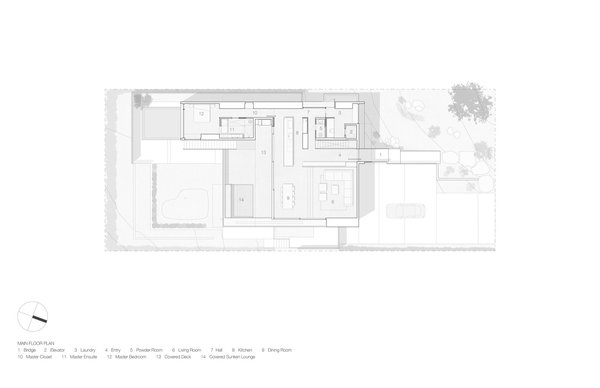 Container House upper floor plan.