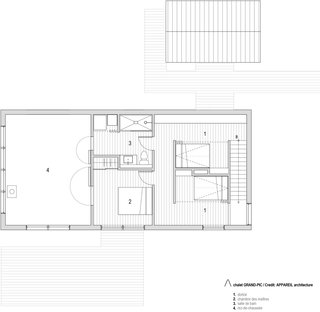 Chalet Grand-Pic upper floor plan.