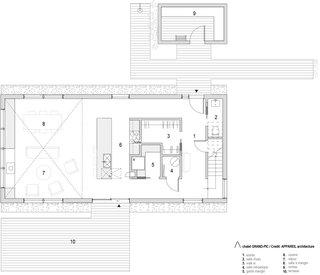 Chalet Grand-Pic ground floor plan.