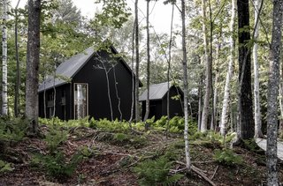 Nestled in the woods, Chalet Grand-Pic was completed for construction costs of approximately $227,000.
