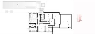 Peconic House lower floor plan.