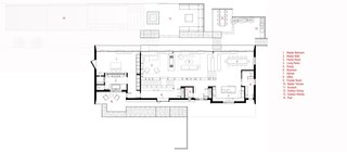 Peconic House main floor plan.