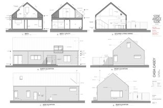Casa Casey sections and elevations.