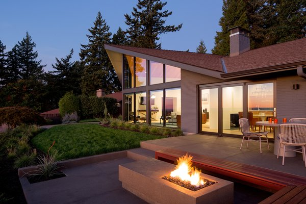 In Portland's leafy Mt. Tabor neighborhood, this renovation project involved modern upgrades to a midcentury-modern home.