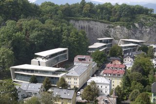 The strikingly angular and contemporary Jewels of Salzburg is a 400,000-square-foot development in Salzburg, Austria, that mimics the rock formations found in a quarry. Completed in 2014, the six new structures house 100 residences.