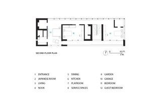 Lath House upper floor plan