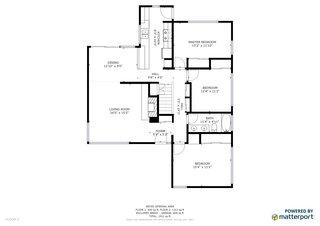 Second story floor plan.