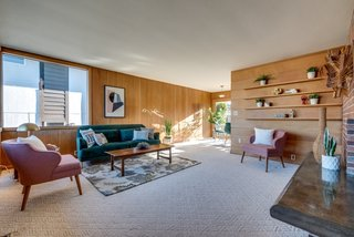 Lillian and her husband Bill handpicked all of the materials, including the vertical-grain fir paneling.