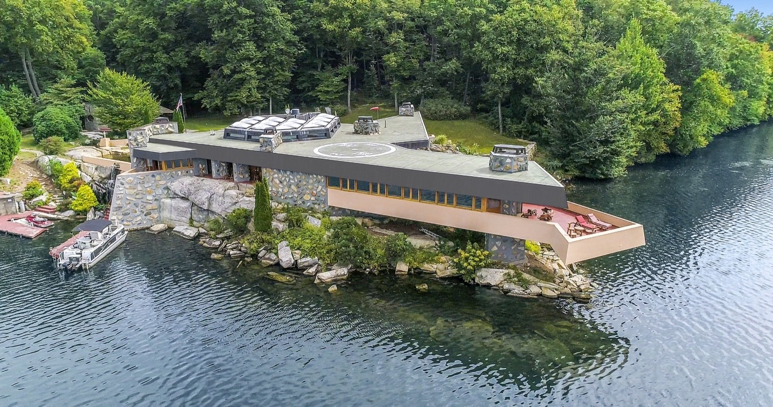 Own a Private Island With a Frank Lloyd Wright-Designed House For $12.9M