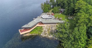 The Massaro House is a 15-minute helicopter ride from Manhattan.