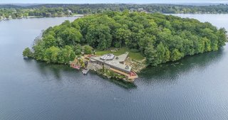 A labor of love, the Massaro House is perched on the island's rocky tip, just as Wright originally intended.