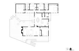 Midcentury Hillside Remodel floor plan