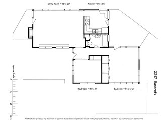 The floor plan of 2317 Bancroft, supplied by the current owner.
