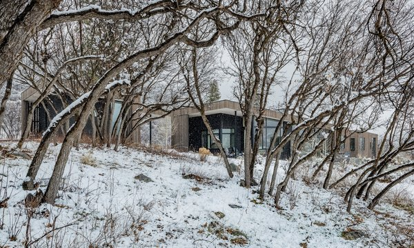 """""""The engagement of the immediate site from every space was far more important to the client than how every room connected to the long range view,"""" says Kennedy. """"Where possible, we did both, but this directive allowed us to keep vegetation close to the house to nestle it into the landscape without worrying about how the vegetation may impact the long-range views."""""""