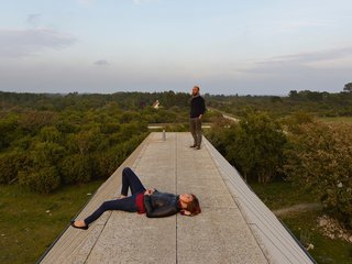 The accessible roof is the perfect place to take in views of the island and the Baltic Sea.