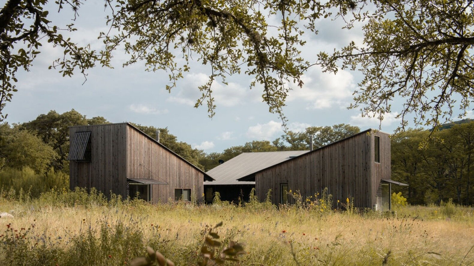 Exterior, Shed RoofLine, Wood Siding Material, and House Building Type  Photo 2 of 9 in 9 Stunning New Homes in Austin Will Open Their Doors for a Virtual Tour