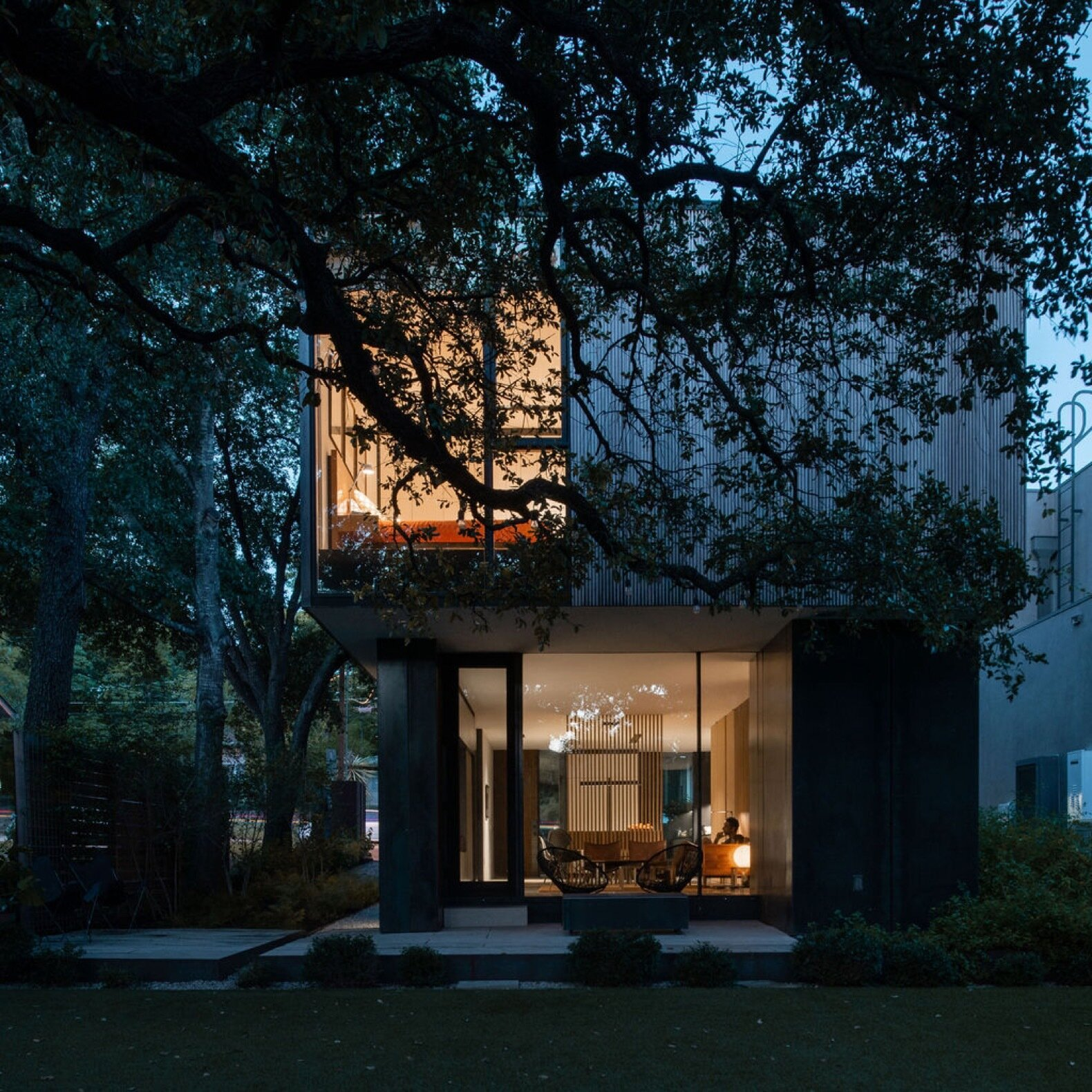 Exterior, House Building Type, Metal Siding Material, and Wood Siding Material  Photo 8 of 9 in 9 Stunning New Homes in Austin Will Open Their Doors for a Virtual Tour