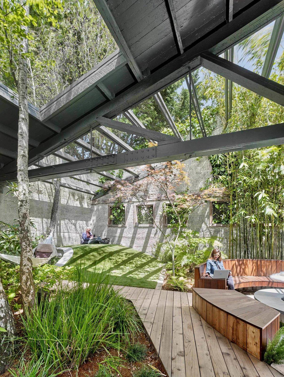 Outdoor, Grass, and Wood Patio, Porch, Deck  Humangear by SCULPT Gardens