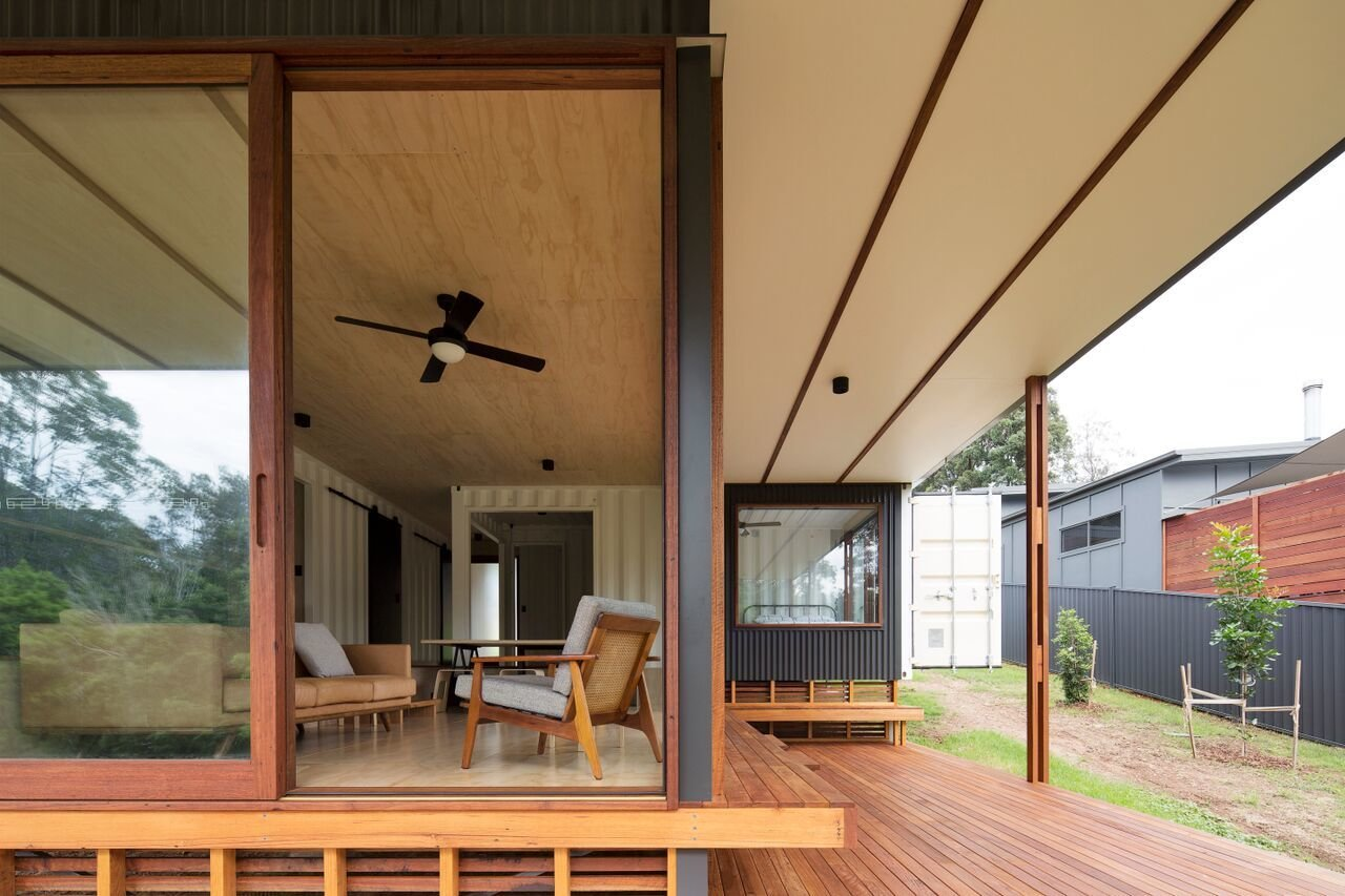 photo 3 of 10 in a shipping container home in australia made with eco friendly materials dwell