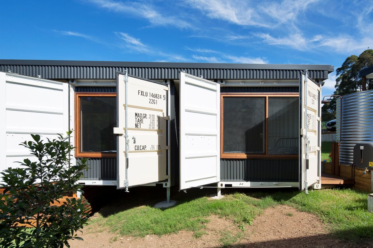 photo 5 of 10 in a shipping container home in australia made with