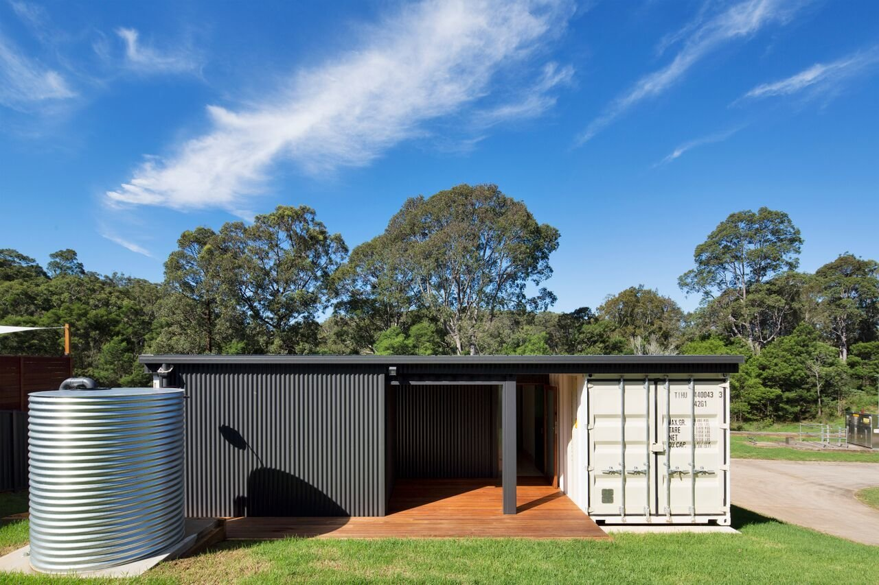 Exterior, Shipping Container Building Type, Metal Roof Material, Metal Siding Material, Flat RoofLine, and House Building Type  Photo 10 of 10 in A Shipping Container Home in Australia Made With Eco-Friendly Materials