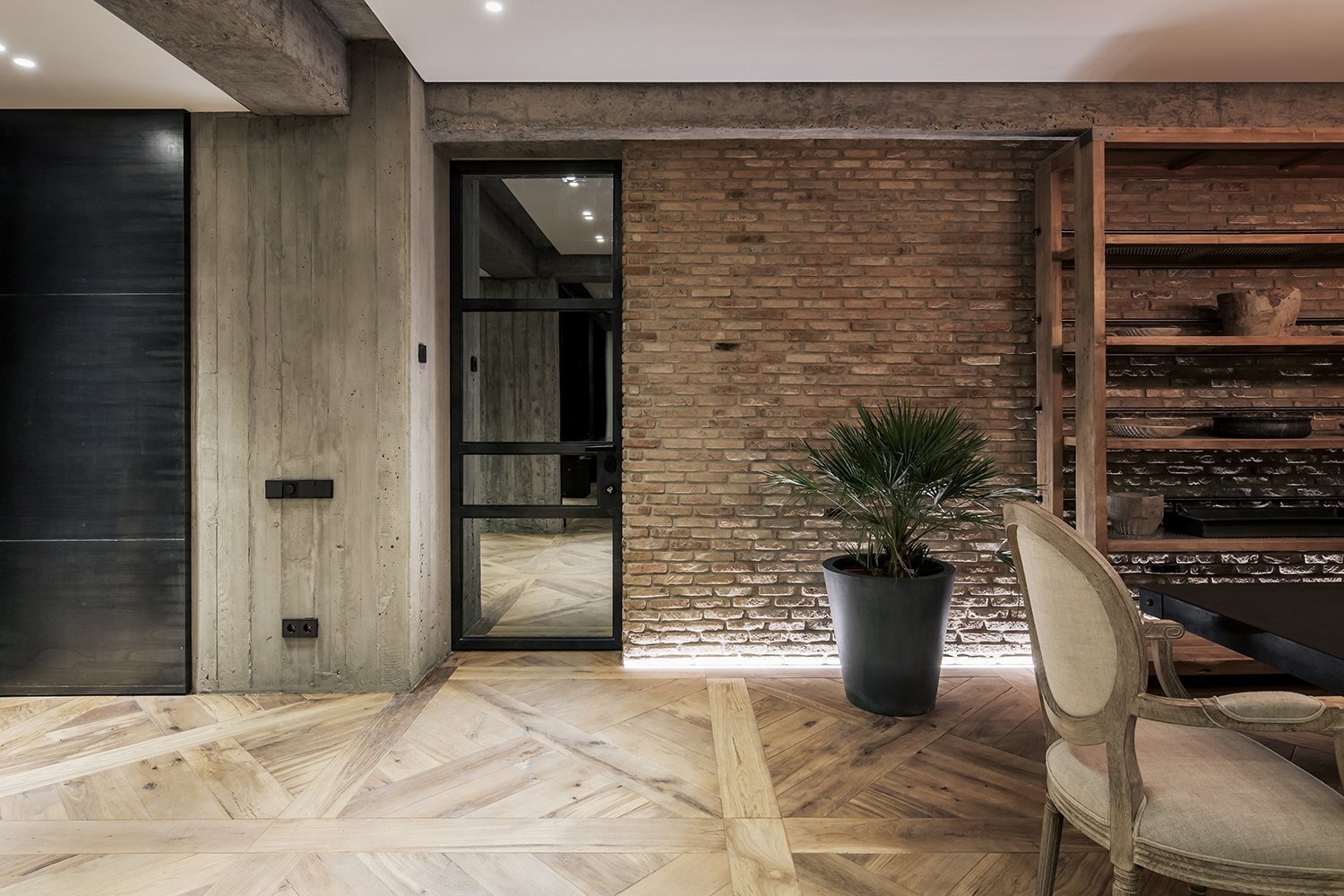 Dining Room  Rustic style apartment in Georgia by YODEZEEN