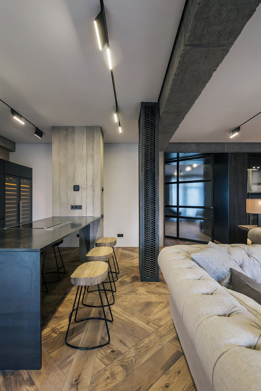 Dining Room and Chair  Rustic style apartment in Georgia by YODEZEEN