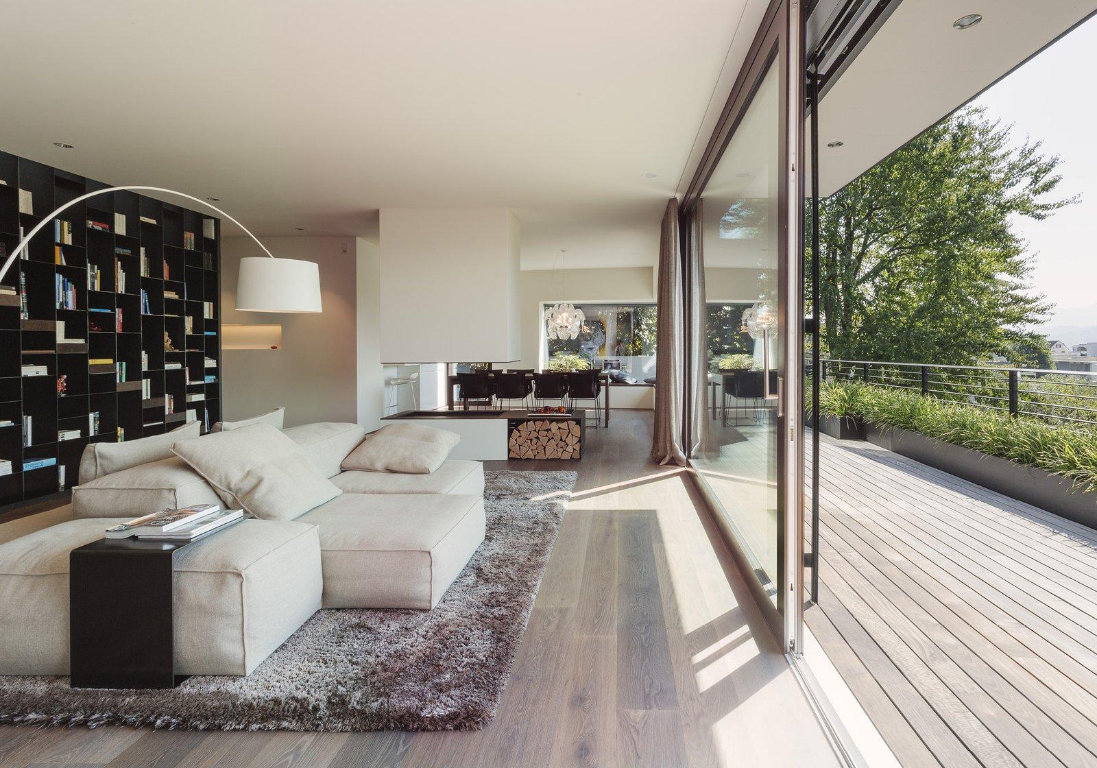 Living Room, Sectional, Floor Lighting, Medium Hardwood Floor, and Rug Floor  Object 336 - beautiful blackbox by meier architekten zurich
