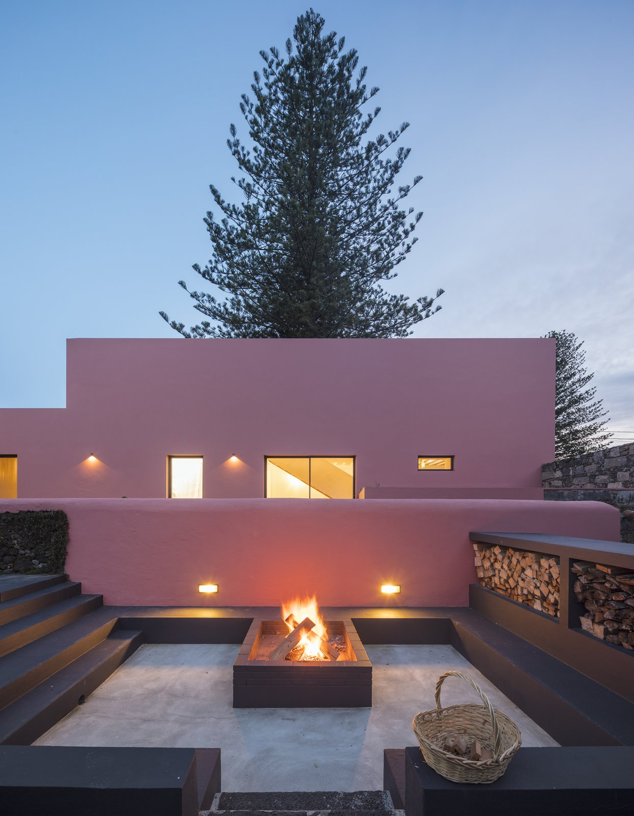Exterior and House Building Type  Pink House
