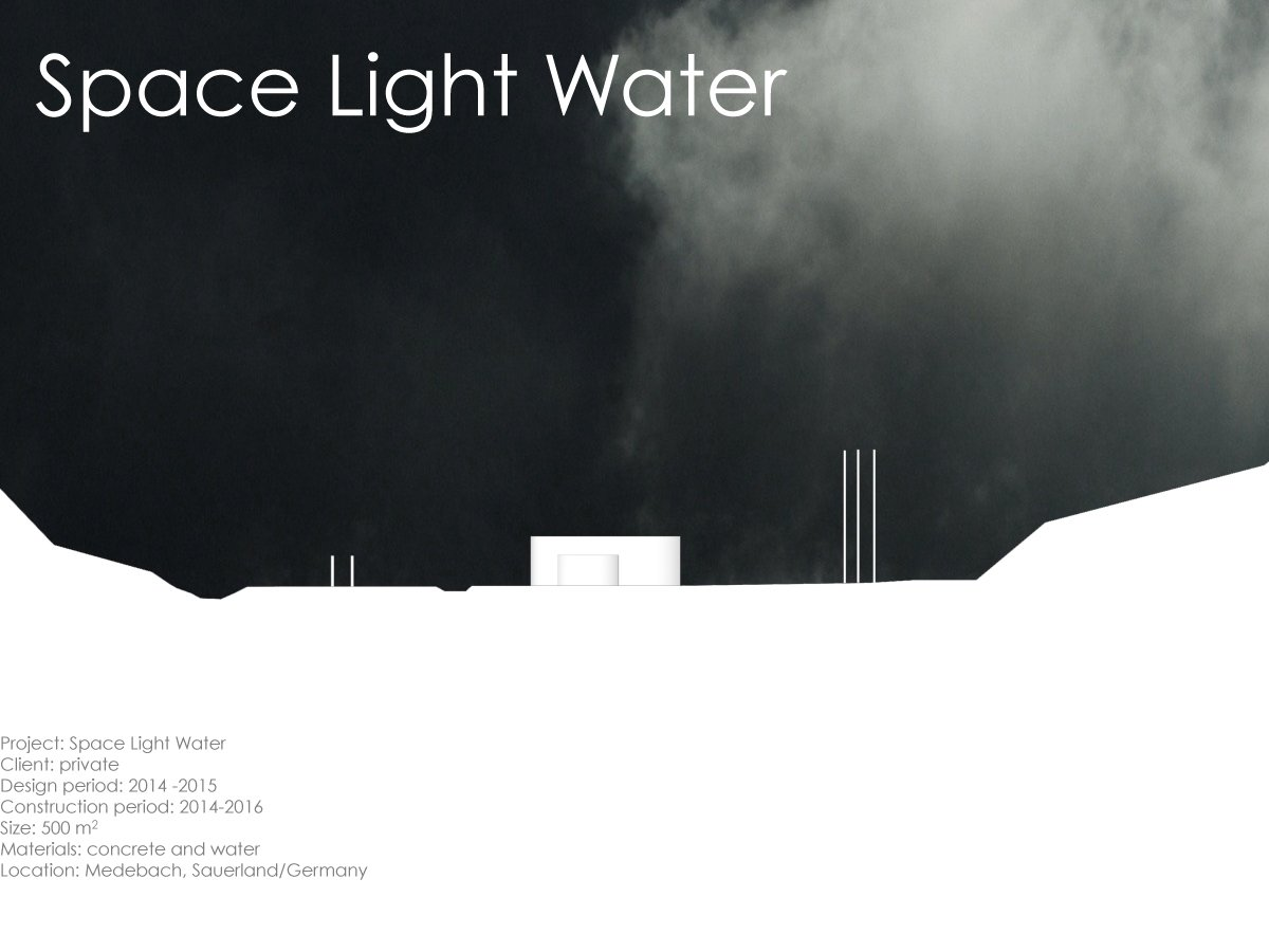 Outdoor, Field, Walkways, Grass, Concrete Fences, Wall, and Landscape Lighting  Space Light Water