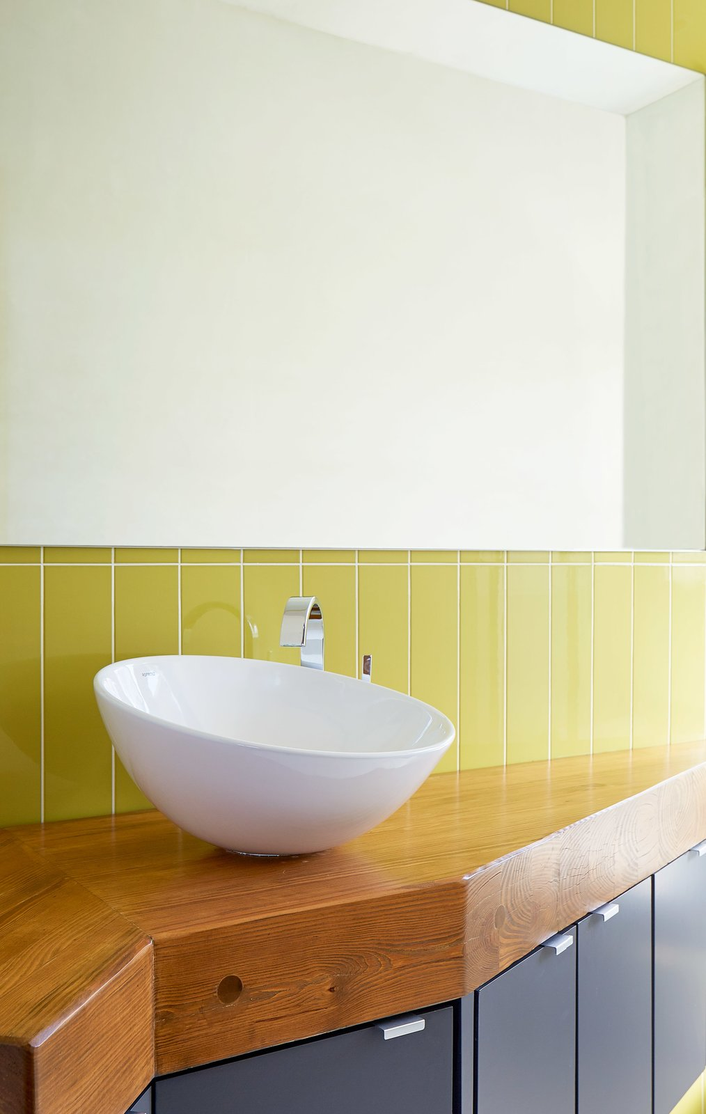 Bath Room and Wood Counter  Lake Waxahachie Home by Mark Odom Studio