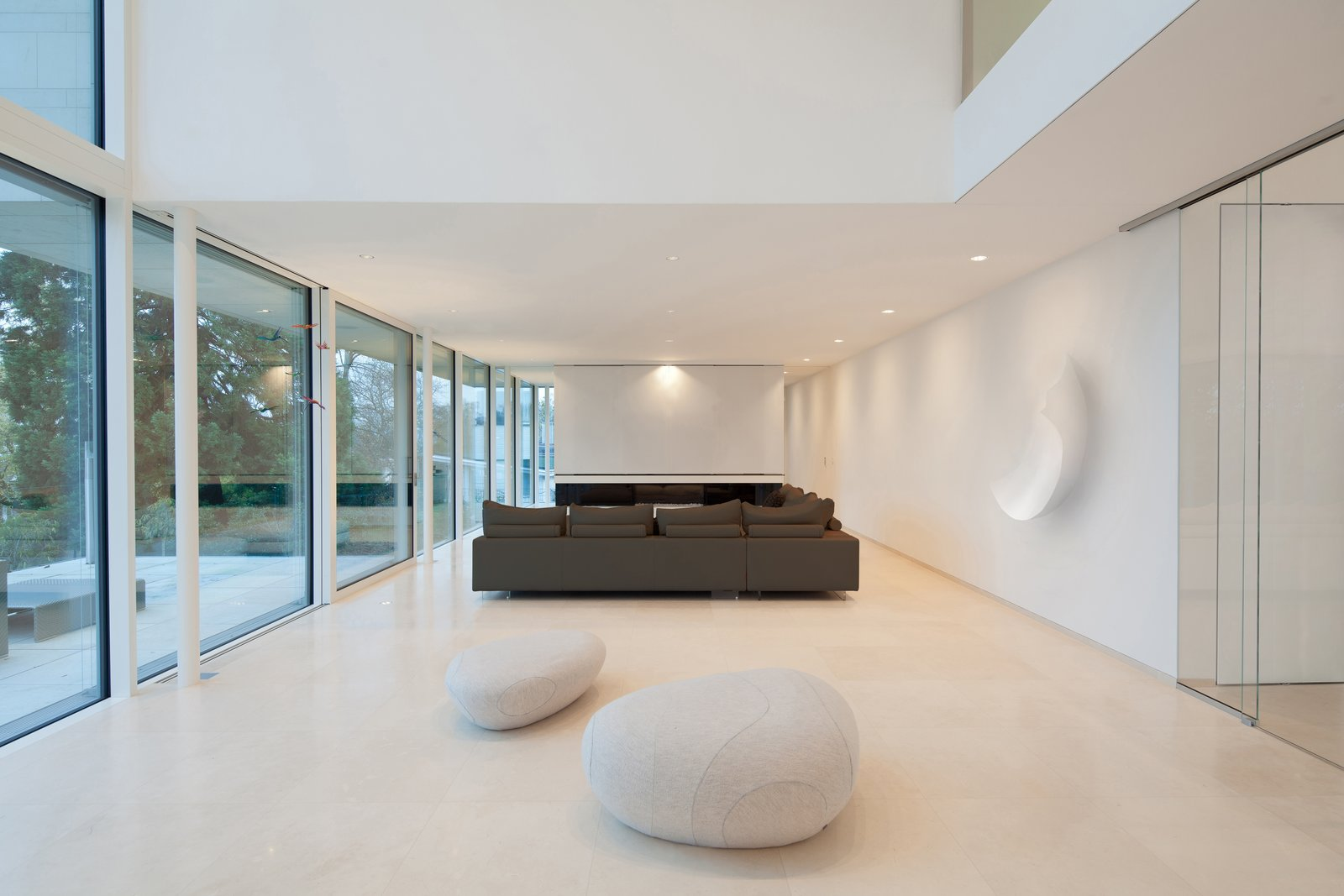 Living, Sofa, Ceiling, and Limestone  Best Living Sofa Limestone Photos from House P+G