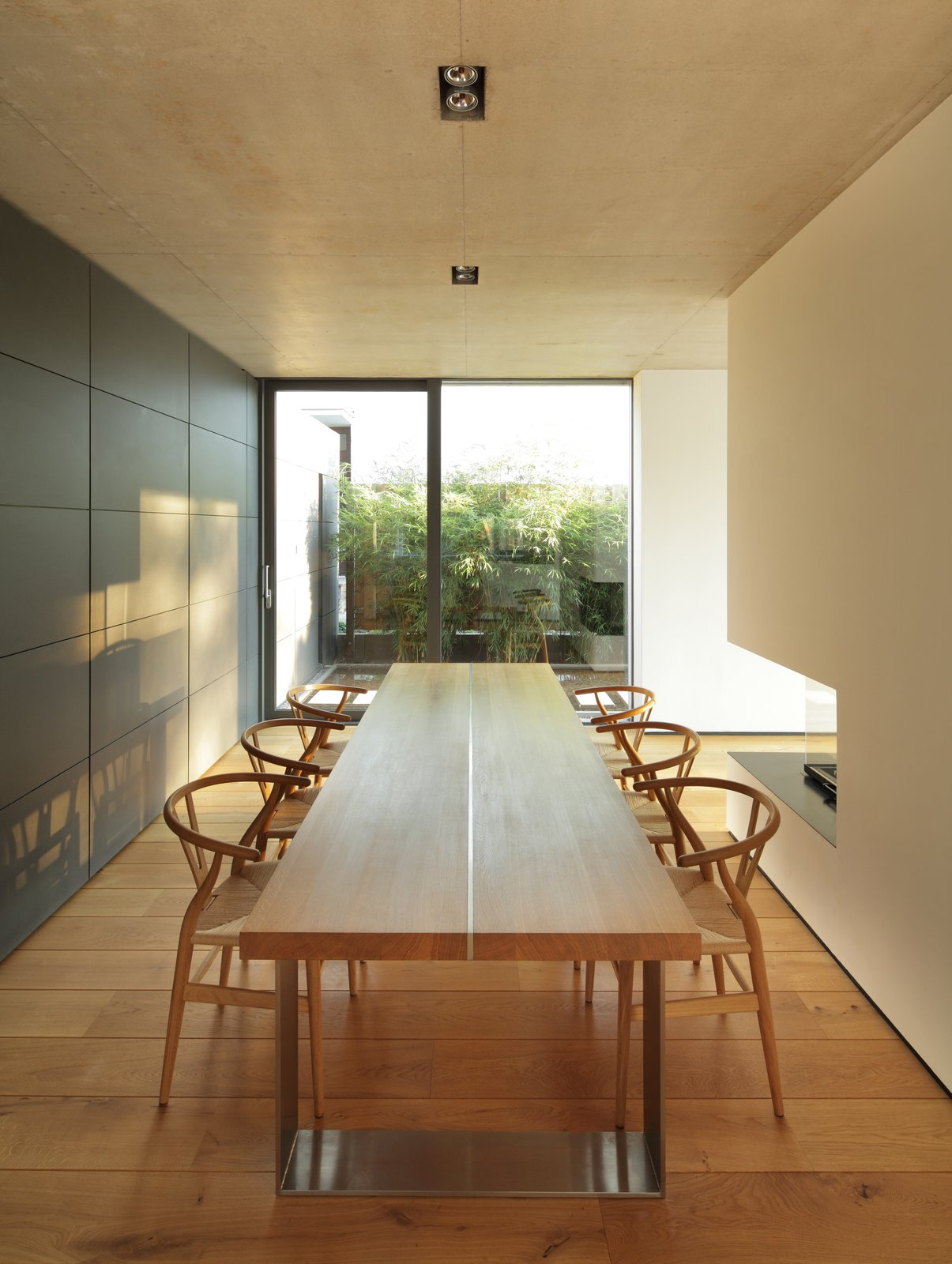 Dining Room, Chair, Table, and Ceiling Lighting  House P