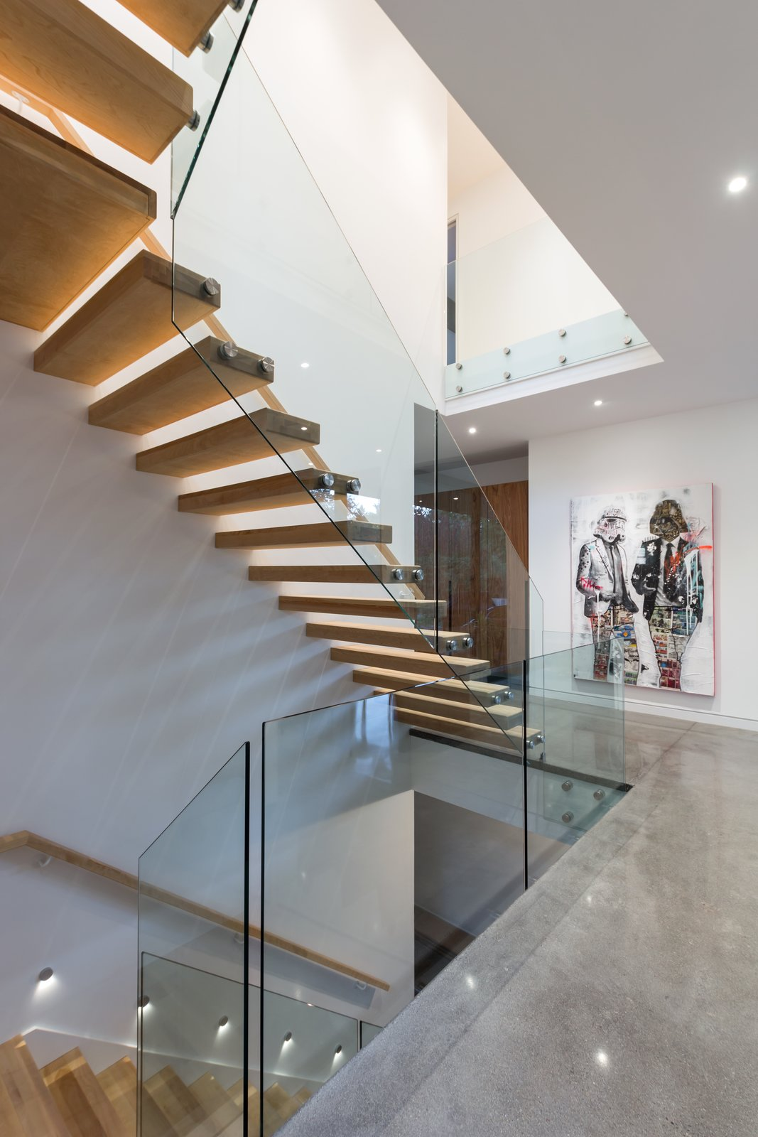 Staircase, Wood Tread, and Glass Railing  Photos from Oak Residence