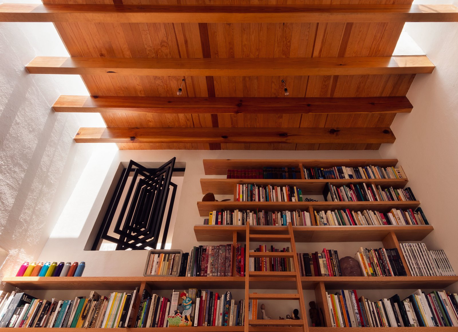 Living Room and Bookcase  Veramendi House