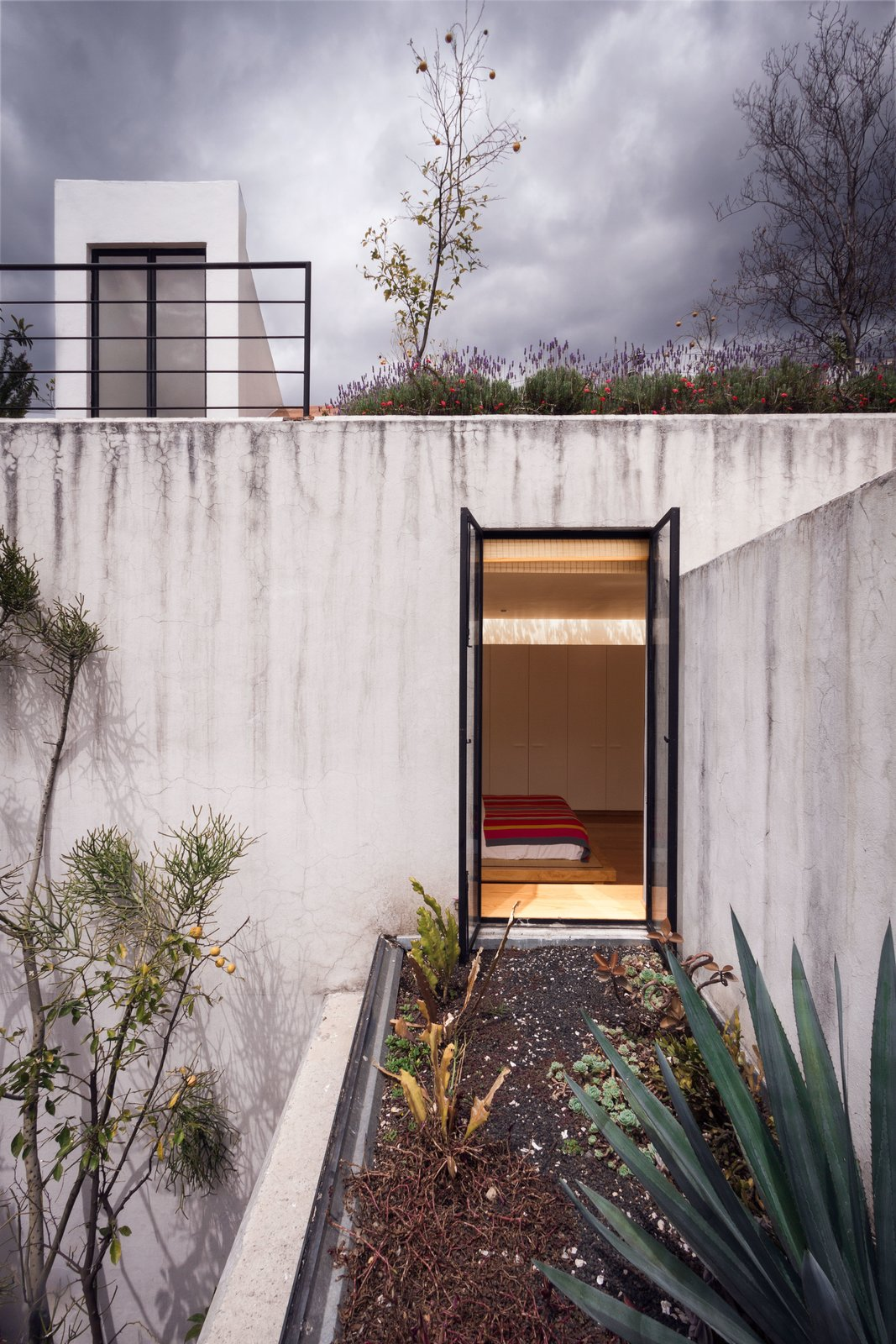 Exterior, Green Roof Material, and Green Siding Material  Veramendi House