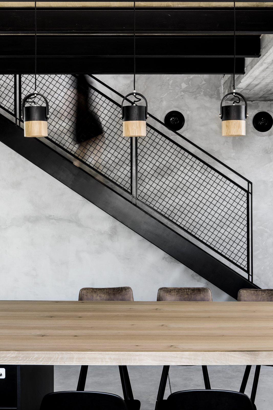 Staircase, Metal Tread, and Metal Railing  Nir Am House by Shir Shtaigman