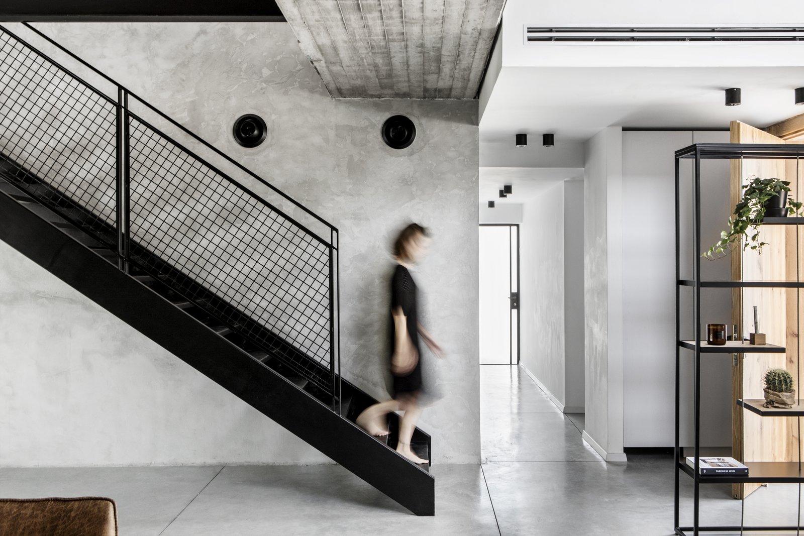 Hallway and Concrete Floor  Nir Am House by Shir Shtaigman