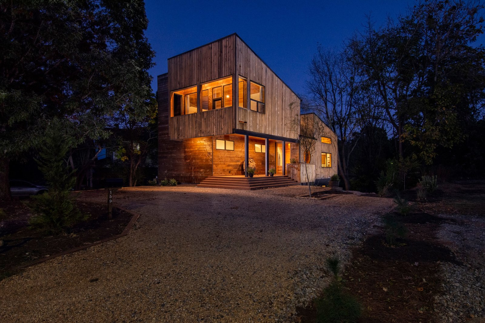 Exterior, Wood Siding Material, House Building Type, Metal Roof Material, and Shed RoofLine  Westwood House