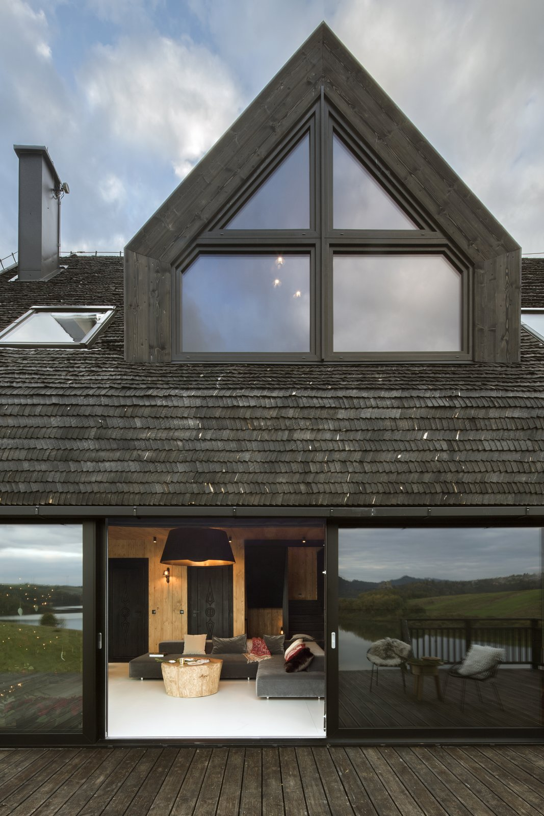 Exterior, House Building Type, and Wood Siding Material  Mountain Cottage