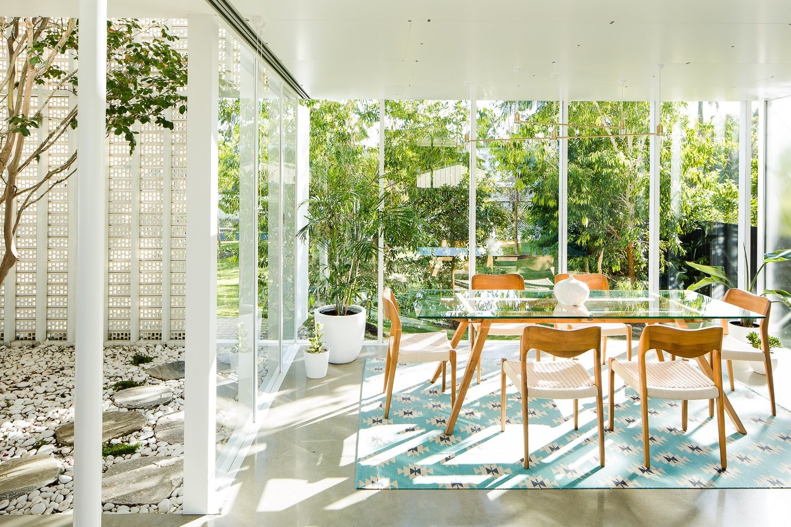 Dining, Table, Chair, Recessed, and Concrete  Best Dining Photos from The Naranga Avenue House