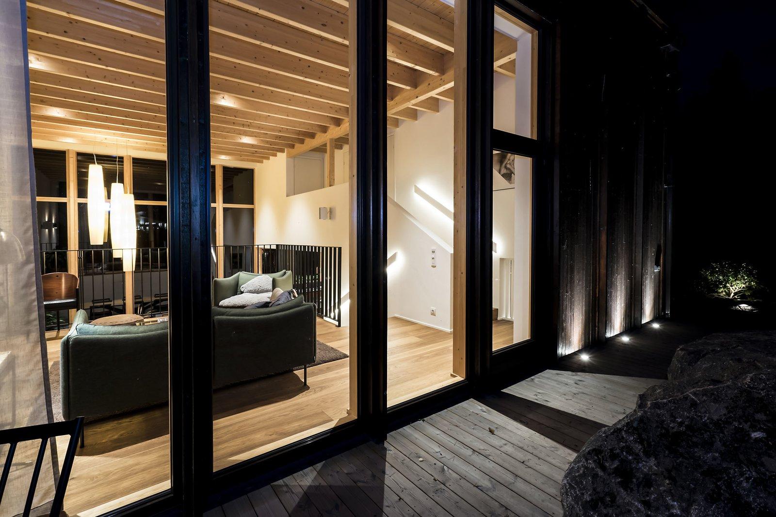 Exterior, House Building Type, Glass Siding Material, and Wood Siding Material  Woodland house