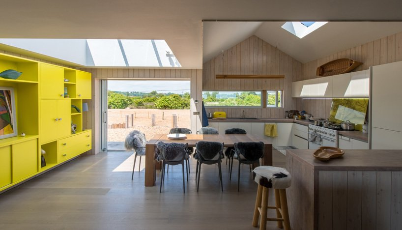Kitchen and Wood Counter  Chalfont Beach by RX Architects