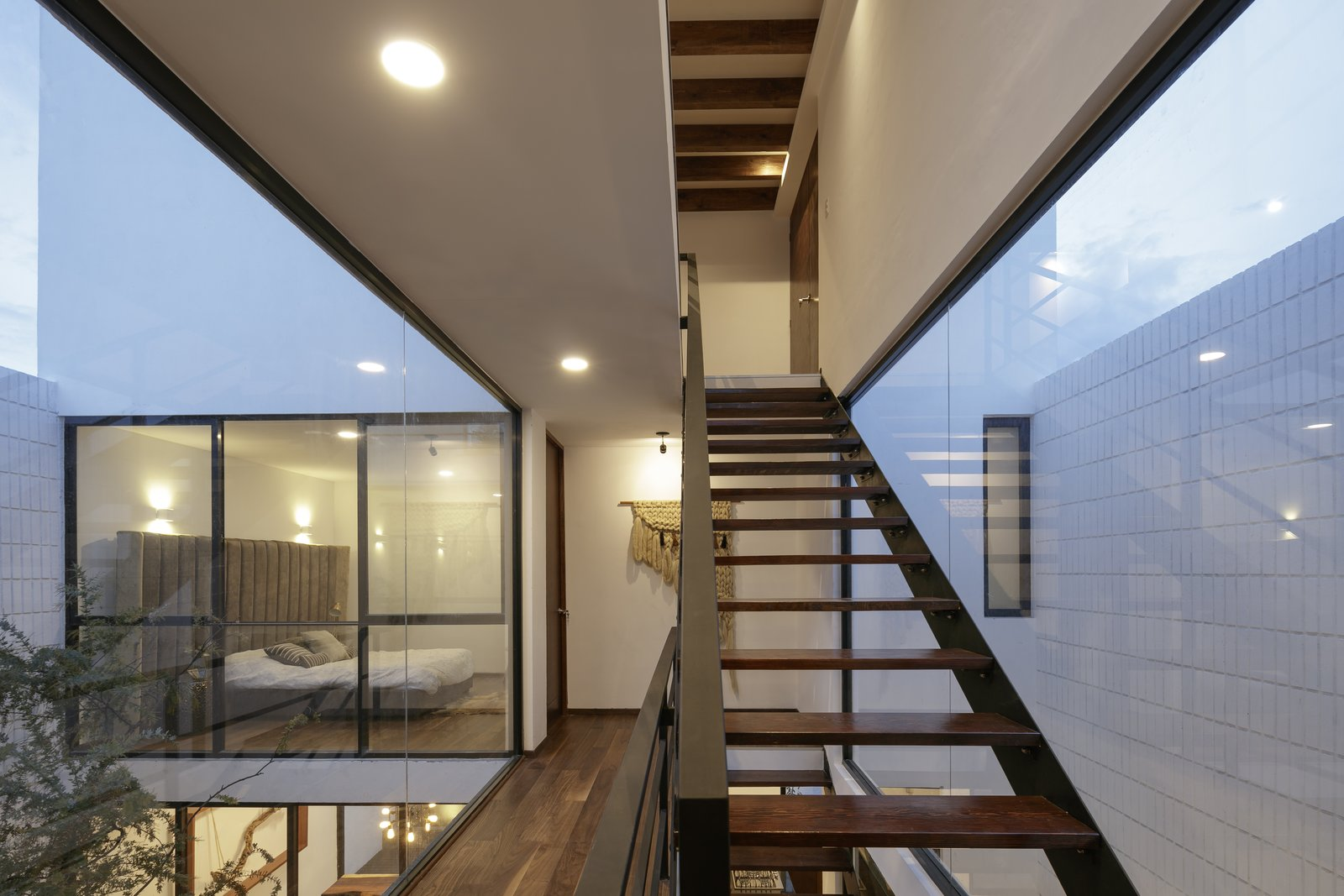 Staircase, Metal, Glass, Wood, Wood, and Metal  Best Staircase Metal Wood Photos from Casa Once