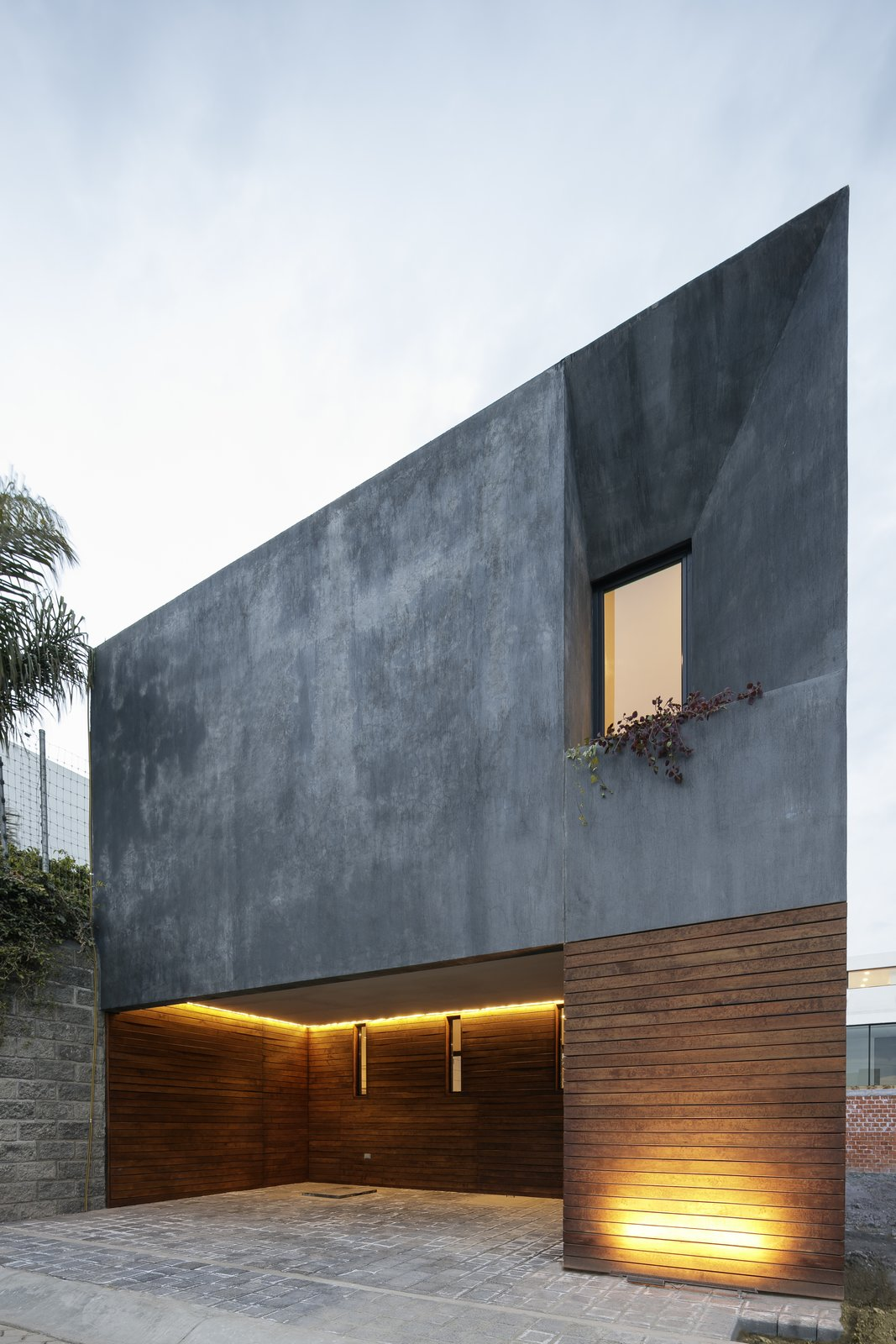 Exterior, Concrete Siding Material, Stucco Siding Material, and House Building Type  Photos from Casa Once