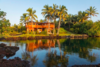 Modern home with Outdoor, Large Patio, Porch, Deck, Garden, Back Yard, Grass, Landscape Lighting, Boulders, Trees, Hardscapes, Salt Water Pools, Tubs, Shower, Wood Patio, Porch, Deck, Stone Fences, Wall, and Shrubs. Photo 2 of Paradise Found Kapoho Oceanfront Estate
