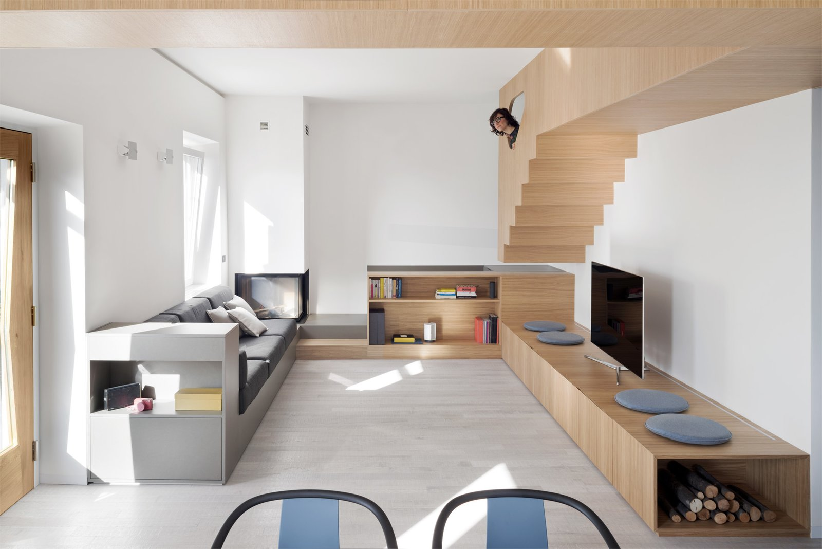 Before and After: A Streamlined Apartment in Italy Boasts Tons of Custom Furniture