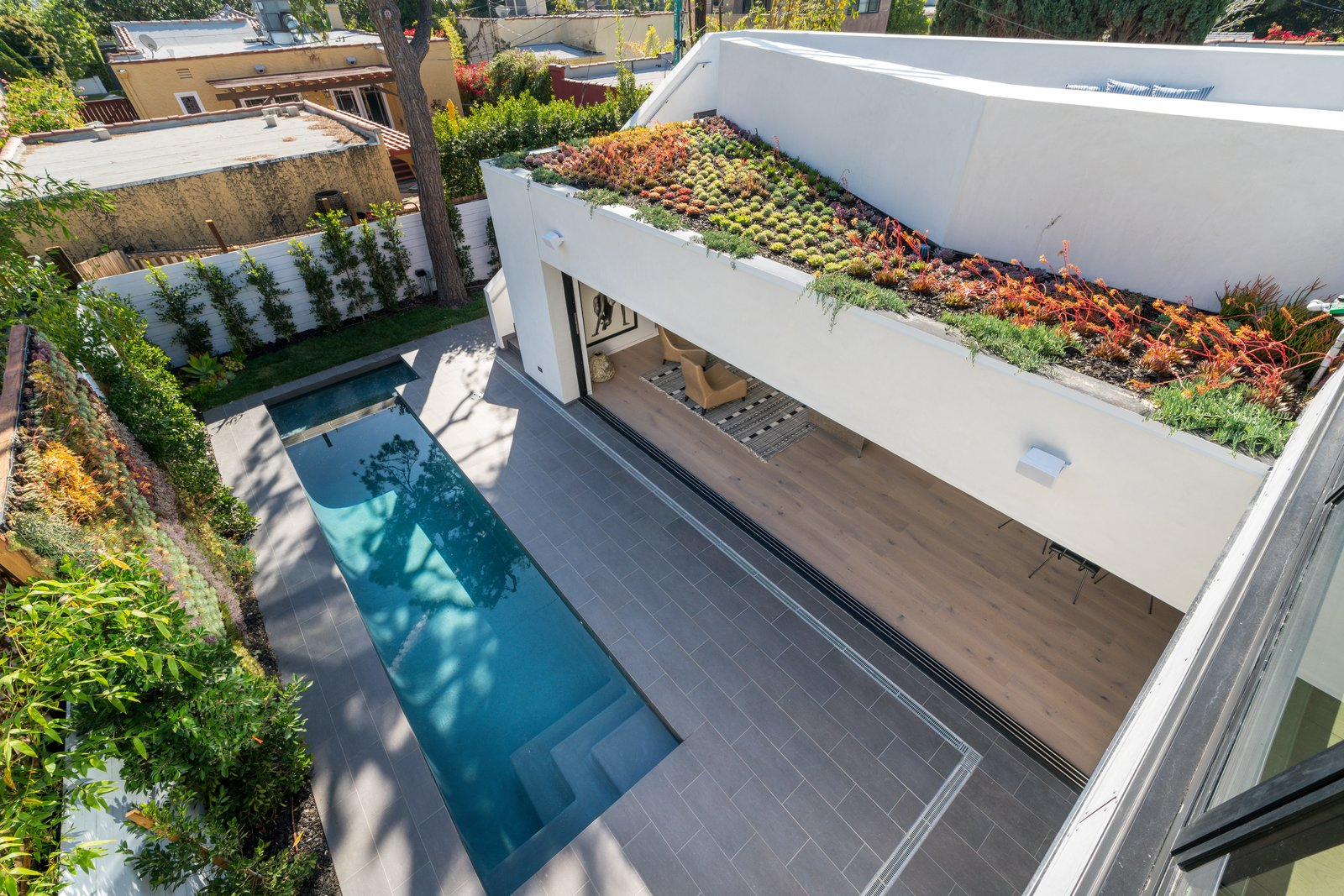 """Outdoor, Gardens, Rooftop, Small Pools, Tubs, Shower, and Small Patio, Porch, Deck  Search """"small footprint in fayetteville"""" from Roof Garden in West Hollywood"""