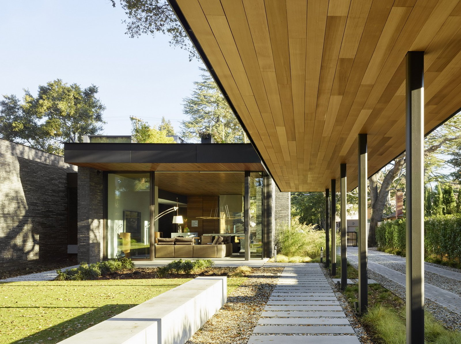 Exterior, Wood Siding Material, Flat RoofLine, House Building Type, and Brick Siding Material  Waverley Residence by Ehrlich Yanai Rhee Chaney Architects