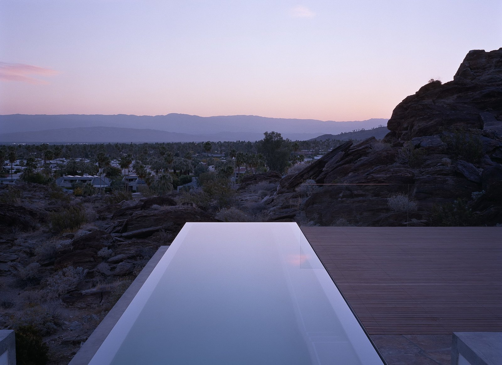 Outdoor, Back Yard, Infinity Pools, Tubs, Shower, Desert, and Slope  Ridge Mountain Residence by Ehrlich Yanai Rhee Chaney Architects